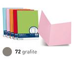 Cartelline semplici Luce - 200gr - 25x34cm - grafite - Favini - conf. 50 pezzi