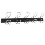 Appendiabiti a colonna a 5 posti - 76x7,2x16 cm - metallo/ABS - nero/grigio metallizzato - Alba