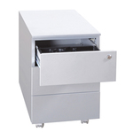 Cassettiere in metallo - 3 cassetti - 40x59x55 cm - grigio - Bertesi
