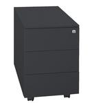Cassettiere in metallo - 3 cassetti - 40x59x55 cm - nero - Bertesi