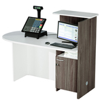 Reception concept - sinistra - 143x83x117 cm - bianco/frassino toscano - Artexport