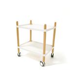 Carrellino multiuso - PPL/faggio - 50x36x55 cm - bianco/faggio - Paperflow
