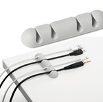 Clip Cavoline® fermacavi - per 4 cavi - adesiva - grigio - Durable - conf. 2 pezzi