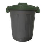 Contenitore portarifiuti Dusty - diametro 36 cm - altezza 45 cm -  25 L - coperchio verde - Mobil Plastic