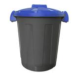 Contenitore portarifiuti Dusty - diametro 36 cm - altezza 45 cm - 25 litri - coperchio blu - Mobil Plastic