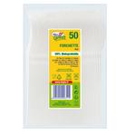 Forchette in PLA Compact - bianco - Dopla Green - conf. 50 pezzi