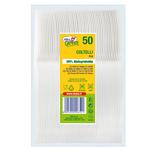 Coltelli in PLA Compact - bianco - Dopla Green - conf. 50 pezzi