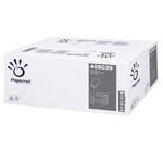 Asciugamani piegati a V - 22x21 cm - 18 gr - goffrata onda - bianco - Papernet - conf. 266 pezzi