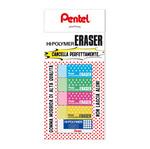 Blister  mini gomme - colori assortiti - 5 pezzi - Pentel