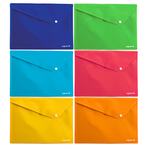 Buste Colorosa in PP con bottone - 33x24.5cm - colori assortiti - Ri.Plast