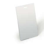Portanome 90x60 - verticale Trasparente - 100 pezzi - Durable