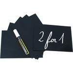 Targhette - 10,5x15 cm (A6) - nero - Securit - set 20 pezzi