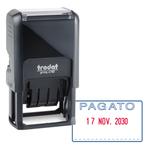 Timbro Printy 4750/L autoinchiostrante - DATA + PAGATO - 41x24 mm - 4 mm - bicolore - Trodat
