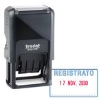 Timbro Printy 4750/L autoinchiostrante - DATA + REGISTRATO - 41x24 mm - 4mm - bicolore -Trodat