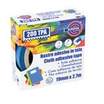 Nastro adesivo telato TPA 200 - blu - 19mmx2,7mt - Eurocel