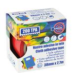 Nastro adesivo telato TPA 200  - 38 mm x 2,7 mt - rosso - Eurocel