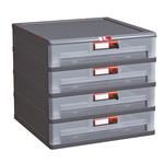 Cassettiera Mopla 104 bis - PP - 4 cassetti - Mobil Plastic