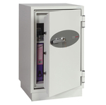 Cassaforte ignifuga FS0443K  - 114,5x65,5x56 cm - 145 lt - per carta - supporti - bianco - Phoenix