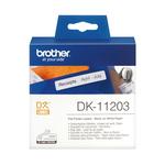 Brother - Rotolo - Nero/Bianco - 300 Etichette adesive  - 17 x 87mm