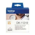 Brother - Rotolo - 1200 Etichette circolari adesive - diametro 12mm