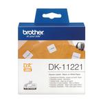 Brother - Rotolo - Nero/Bianco - 1000 Etichette quadrate - 23 x 23mm