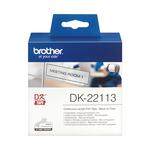 Brother - Nastro adesivo - in pellicola - Nero/Trasparente - 62mm x 15,24mt