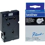 Brother - Nastro -  Trasparente/Nero - TC101 - 12mm x 7,7mt