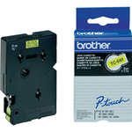 Brother - Nastro -  Nero/Giallo - TC691 - 9mm x7,7mt