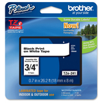 Brother - Nastro - Nero/Bianco -TZE241 - 18mm x 8mt