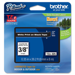 Brother - nastro laminato - TZE325 - bianco/nero, 9mm x 8mt