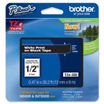 Brother - Nastro - Bianco/Nero - TZE335 - 12mm x 8mt
