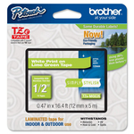 Brother - Nastro - Bianco/Verde acido - TZEMQG35 - 12mm x 5mt