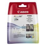 Canon - Confezione Serbatoio inchiostro - C/M/Y/K - 2970B010 - C/M/Y 244 pag / K 240 pag