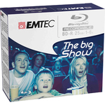 Emtec - Blu Ray - registrabile  25GB, 1/6x jewel case - Conf. 5 pz