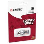 Emtec - Memoria Usb 2.0 - Bugs Bunny - ECMMD8GM752L104 - 8GB