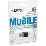 Emtec - Micro USB - T200, 3.0, flash drive e go, 16GB