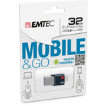 Emtec - Micro Usb 3.0 Flash Drive Go - ECMMD32GT203 - 32GB