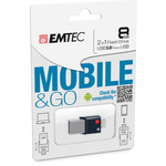 Emtec - Micro Usb 3.0 Flash Drive Go - ECMMD8GT203 - 8GB