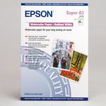 Epson - risma - 20 fogli, A3+, 190gr, carta acquerello radiant white