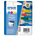 Epson - cartuccia - C13T05204010 - 3 colori Stylus color 400/440/460/600/640/660/670/740/760/800, blister RS