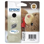 Epson - cartuccia - C13T06114010 - nero, Stylus d68 d88/photoedition dx4250 dx3800/4800, blister RS