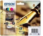 Epson - cartucce - C13T16264012 - a pigmenti, serie 16 penna e cruciverba - conf. 4 cartucce