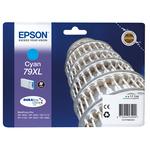 Epson - tanica - inchiostro a pigmenti, ciano, Durabrite Ultra, serie 79 XL, torre di Pisa - blister