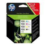 HP - cartucce - C2N92AE - Inkjet, nero, ciano, magenta, giallo Officejet HP 920xl, alta capacità - conf. 4 cartucce