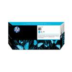 HP - testina di stampa e dispositivo di pulizia - per testina di stampa, n. 81, ciano