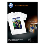 HP - risma - supporti trasferimento a caldo, iron on transfers, A4, 170gr - conf. 12 fogli