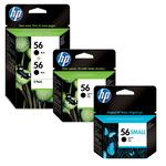HP - cartuccia - C6656AE - n. 56, nero, 19ml