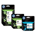 HP - cartuccia - C6657AE - n. 57, tricromia, 17ml