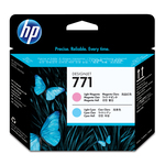 HP - testina di stampa - Designjet, n. 771, magenta chiaro, ciano chiaro