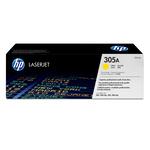 HP - toner - CE412A - giallo, n. 305a, capacità standard